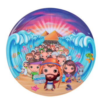 He Loves Me, Moses Plate, Melamine, 8 inches