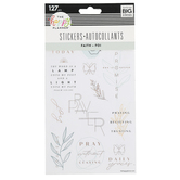 MAMBI, The Happy Planner Faith Foil Stickers, 127 Stickers