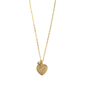 Loved By Design, Dove Heart/Swarovski Crystal Charm Necklace, Gold Plated, 20 Inches