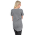 NOTW, Lace Cross, Women's High Low Fashion Top, Heather Gray and Pink, Small