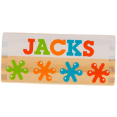 Melissa & Doug, Jacks Game, Wood, 23 Pieces, 3 3/4 x 5 x 2 1/2 inches, Ages 6 & Older, 2 Players