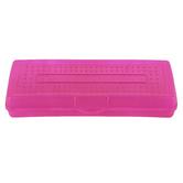 Storex, Mini Pencil Case, Plastic, Assorted Colors, 3 1/4 x 7 3/4 x 1 1/4 inches