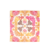 Fashion Bandana, Henna Pattern With Elephants, Cotton, 22 x 22 inches