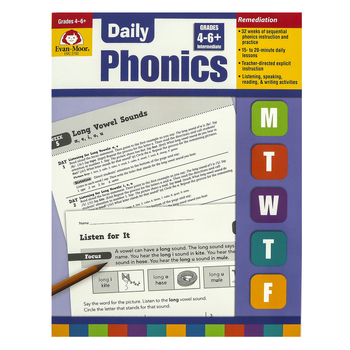 Evan-Moor, Daily Phonics Teacher's Edition, Reproducible, Paperback, 208 Pages, Grades 4-6 and up