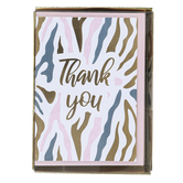 Graphique De France, Thank You Zebra Design Boxed Cards, 3 1/4 x 4 3/4 inches, 16 Cards & Envelopes