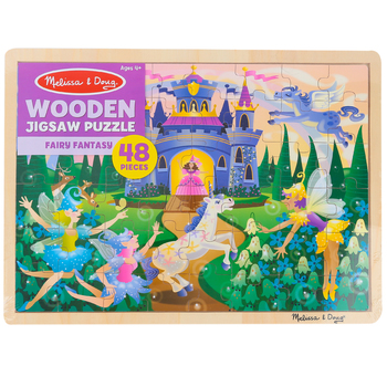 Melissa & Doug, Fairy Fantasy Wooden Jigsaw Puzzle, 48 Pieces, Ages 4 to 6 Years Old