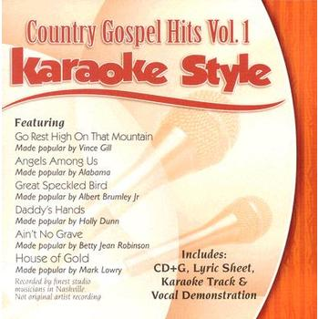 Country Gospel Hits Volume 1, Karaoke Style, As Made Popular by Various Artists, CD+G