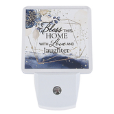 Dexsa, Bless This Home With Love And Laughter Night Light, Plastic, 3 x 4 1/2 inches