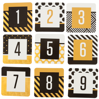Glimmer of Gold Collection, Calendar Days, 2.5 x 2.5 Inches, 7 Designs, 36 Pieces