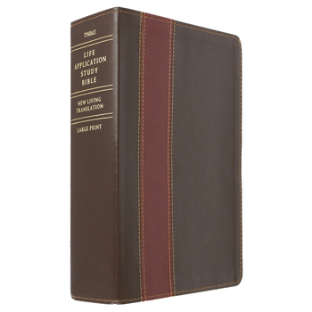 NLT Life Application Study Bible, Large Print, Duo-Tone, Brown and Tan