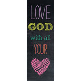 Chalk Talk Collection, Love God With All Your Heart Bookmarks, 2 x 6 Inches, Pack of 36