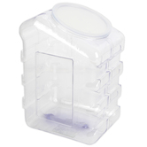 Pacon, Interlocking Storage Container with Lid, Plastic, Clear, 5 1/2 x 6 3/4 inches