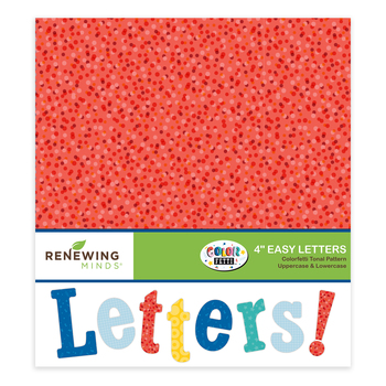 Colorfetti Collection, Tonal Pattern Bulletin Board Letters, Upper and Lowercase, 4 Inches, Assorted Colors, 220 Pieces