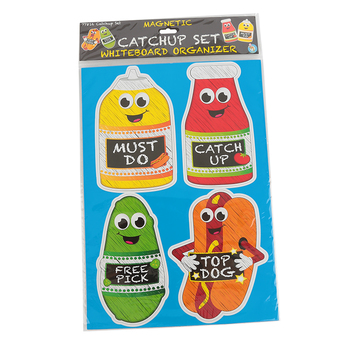 "Ashley Productions, Die Cut Magnetic ""Catchup"" Set, 5.50 Inches, Multi-Colored, 4 Pieces"