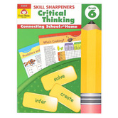 Evan-Moor, Skill Sharpeners Critical Thinking Grade 6 Activity Book, Paperback, 144 Pages, Grade 6