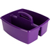 Storex, Large Caddy, Purple, 2 Compartments, Plastic, 13 x 11 x 6.38 Inches, 1 Piece