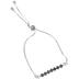 Bella Grace, Cross Beaded Pull Bracelet, Black and Silver