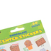 Eureka, Chocolate Scented Self-Adhesive Stickers, Multi-Colored, Variety of Sizes, Pack of 80
