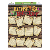 Goin' West Collection, Customizable Birthday Chart, 17 x 22 Inches, Multi-Colored, 1 Piece