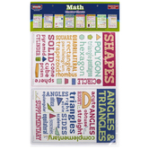 McDonald Publishing, Math Chatter Charts, 11 x 17 Inches, Pack of 8, Grades 4-12