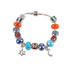 Holy Land Gifts, Messianic Symbols Beaded Charm Bracelet, Silver Chain