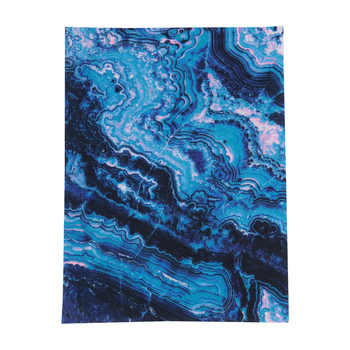 Printed Cosmic Galaxy Felt Rectangle, Navy, Blues, and Purples, 9 x 12 Inches, 1 Piece
