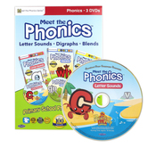 Preschool Prep Company, Meet the Phonics 3 DVD Set, 170 Minutes, Grades PreK-1