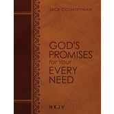 NKJV Gods Promises for Your Every Need, by Jack Countryman, Imitation Leather, Brown