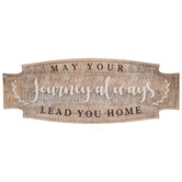 May Your Journey Always Lead You Home Plaque, MDF, 35 3/4 x 13 1/2 x 3/4 inches