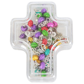 H.J. Sherman, Cross Rosary Keepsake Box, Plastic, Clear