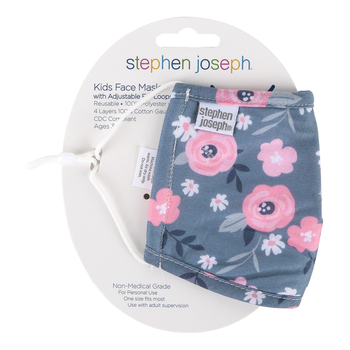 Stephen Joseph, Floral Face Mask for Kids, Cotton, 6 1/2 x 4 1/4 inches