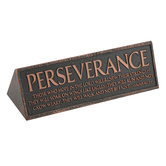 Lighthouse Christian, Isaiah 40:31 Perseverance Desktop Plaque, Copper, 6 1/2 x 2 x 2 1/4 Inches