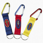 Fun Express, Aluminum Clip Keychains, Assorted Colors, Bag of 12