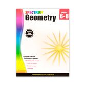 Carson-Dellosa Spectrum Geometry Workbook Grade 6-8, Reproducible Paperback, 128 Pages, Grades 6-8