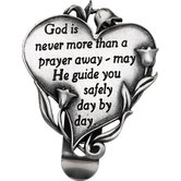 God is Never More Than a Prayer Away Heart Visor Clip