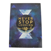 Renewing Minds, Never Stop Looking Up Motivational Poster, 13.25 x 19 Inches, 1 Piece