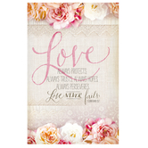 Salt & Light, Love Always Protects Church Bulletins, 8 1/2 x 11 inches Flat, 100 Count