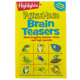 Highlights, Puzzlemania, Brain Teasers Puzzle Pad, Paperback, 64 Pages, Ages 6-8