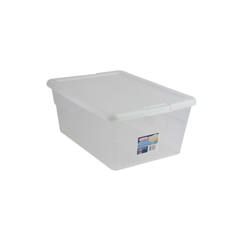 Sterilite, Storage Box with Removable Lid, Clear, 16.75 x 11.88 x 7 Inches, 2 Pieces