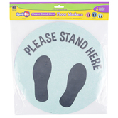 Teacher Created Resources, Spot On Floor Markers Oh Happy Day Please Stand Here, Assorted Colors, 6 Pieces, 10.50 Inches