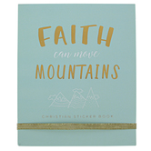 Eccolo Ltd., Faith Can Move Mountains Christian Sticker Book, 28 Pages