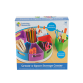 Learning Resources, Create-a-Space Storage Center, 12-Inch Diameter, 9 Pieces
