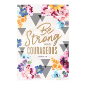 SoulScripts, Joshua 1:9 Be Strong & Courageous, Paperback Journal, 5 1/2 x 8 inches, 80 Pages
