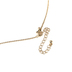 Faithful and Fabulous, Bling Cross with Pearls Necklace and Earring Set, Zinc Alloy, Gold, 20 Inch Chain, 3 Pieces