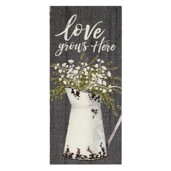 P. Graham Dunn, Love Grows Here Word Block, Pine Wood, 3 1/2 x 1 5/8 inches