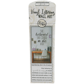 My Thoughtful Wall, She Believed She Could Wall Decal, Black, 22 x 15 3/4 inches