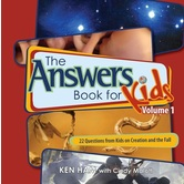 The Answers Book for Kids Volume 1, by Ken Ham & Cindy Malott, Hardcover