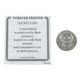 H.J. Sherman, Forever Friends Pocket Coin, Pewter, 1 1/4 inches