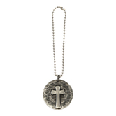 Dicksons, Philippians 4:13 I Can Do All Things Car Charm, Zinc Alloy, Silver, 7 Inches