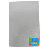 Silly Winks, Glitter Foam Sheet, Silver, 12 x 18 Inches, 1 Each